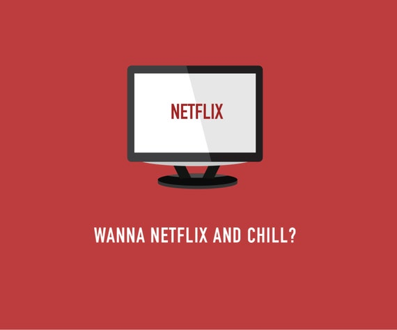 Items similar to netflix and chill card funny love card funny items similar to netflix and chill card funny love card funny valentines card pop culture card on etsy stopboris Image collections