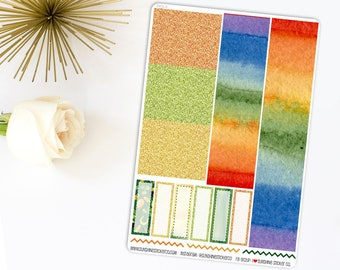 St. Patrick's Day Washi Sheet Planner Stickers 841L7