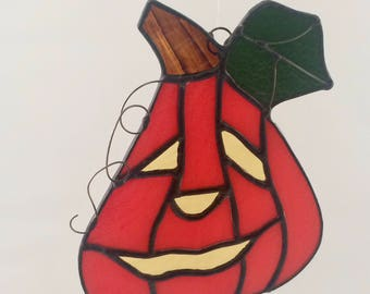 Stained Glass Jack-O-Lantern Suncatcher - Stained Glass Suncatcher - Jack-O-Lantern Suncatcher - Jack-O-Lantern - Halloween - Suncatcher