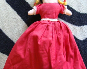 LITTLE RED RIDING hood vintage story telling doll reversible storytelling