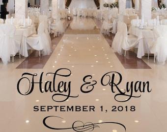 Wedding Dance Floor Decal - Vinyl Floor Decal for Wedding
