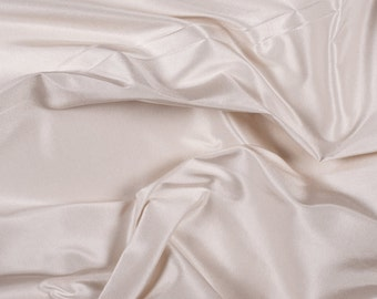 "54"" Wide 100% Silk Taffeta Cream by the yard (9000MT4)"