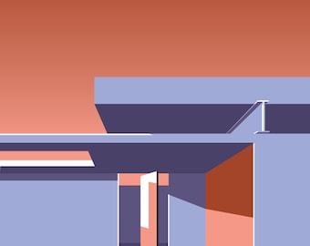 Mid Century Modern Architecture Series Print 01