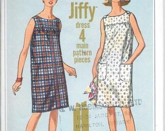 Vintage 1960s Simplicity Sewing Pattern 6531- Misses' Dress size 14 bust 34 Uncut
