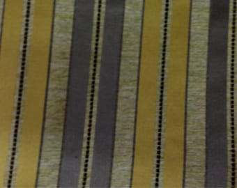 Grey and Yellow Stripe Fabric - Stripe Upholstery Fabric By The Yard