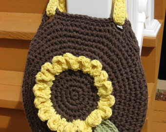 Sunshine on My Shoulder, Sunflower Bag Crochet Pattern Pdf, Instant pattern download