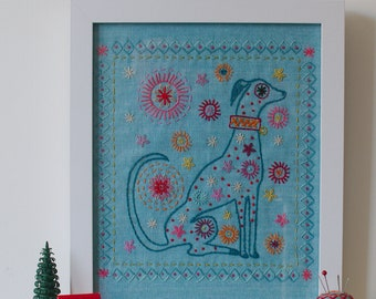 DOG Iron on Transfer for hand embroidery