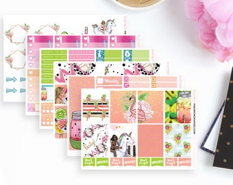 Pool Party Weekly Planner Sticker Kit   119 Stickers