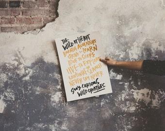 Stay Curious - White Fine Art Silkscreen Poster - Wild Creatives