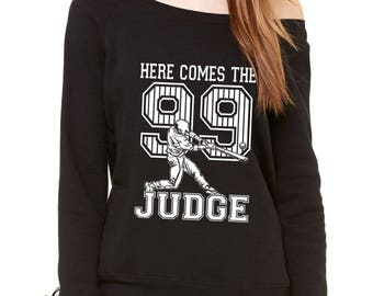 Here Comes The Judge 99 Slouchy Off Shoulder Oversized Sweatshirt