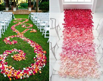 Silk flowers bulk etsy 2000 silk flower petals wholesale flower petals wedding aisle decorations artificial flower petals bulk sale ombre mightylinksfo
