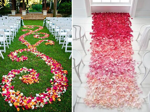 2000 Silk Flower Petals Wholesale Flower Petals Wedding Aisle ...