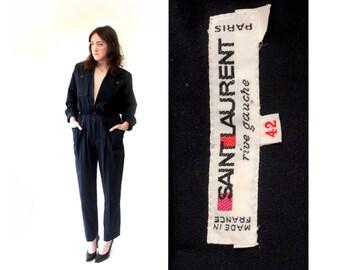 Important 1970s YSL Wool Jumpsuit