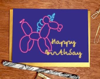 Happy Birthday' Balloonicorn Greeting Card