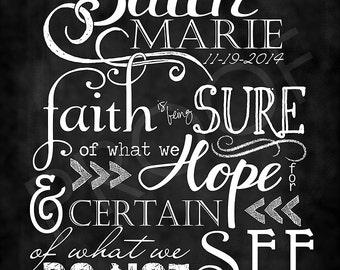 Scripture Art - Affirmations Signs for Children, Chalkboard Style