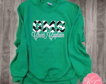 Custom Team Sweatshirt in Toddler, Youth or Adult with glitter Text