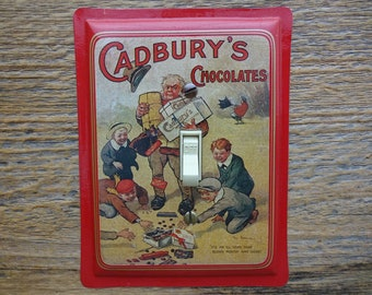 Light Switchplate Red Switch Plate Cover Cadburys Advertising Tin Can SP-0239