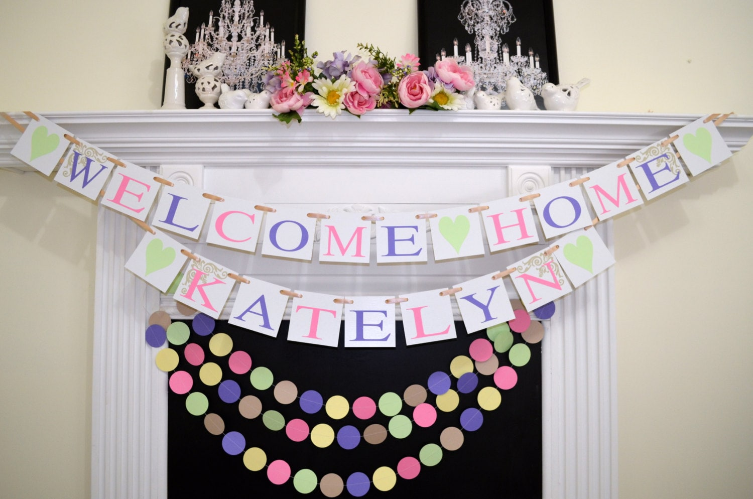 Amazing Baby Shower Decor Welcome Home Banner And Garland Set