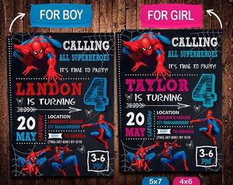 Spiderman invitation etsy stopboris Image collections