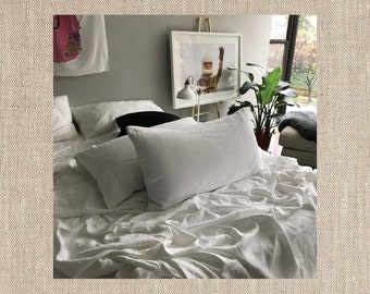 Natural Beauty Beige Pair of Linen Pillowcases - Minimalist Bedding - Made to Order in the USA