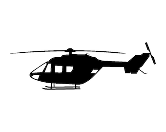 BK-117 Helicopter Vinyl Decal