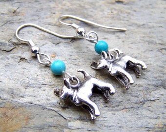 Chihuahua Earrings Personalized Chihuahua Jewelry Silver Dog Earrings Dog Lover Gift Tiny Small Petite
