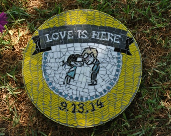 Mosaic Garden Stepping Stones Custom designed mosaic garden stepping stone graduation gift celebrate weddings and anniversaries with a custom designed mosaic garden stepping stone workwithnaturefo