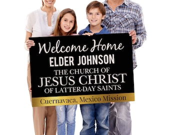 Welcome Home Missionary Banner, Unique Vinyl Banners 2ftx3ft, Missionary Banner Elder Sister Farewell Gift LDS mission Mom called to serve