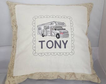 Motorhome personalised cushion cover