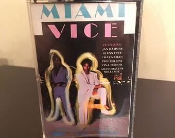 Vintage Miami Vice Soundtrack Cassette Tape Recording