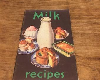 1950's milk recipes book