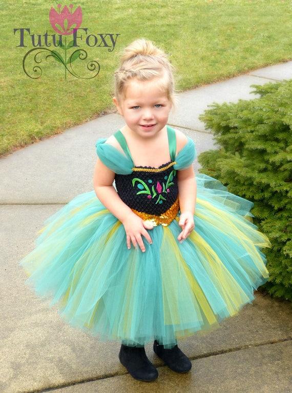 Anna Tutu Dress Costume Frozen