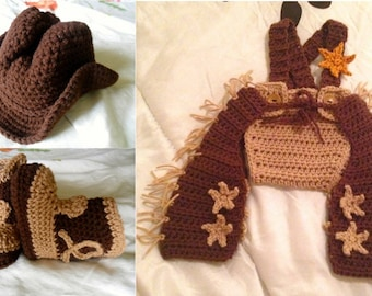 Baby Cowboy Costume - Baby Sheriff Costume - Baby Cowboy Outfit - Baby Sheriff Outfit - Cowboy Halloween Costume - 0 - 12 Months