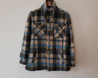 Vintage Petite Plaid Wool Jacket