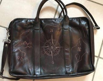 Genuine Leather Antiqued Laptop Bag