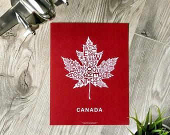 Far Sky Canada 150 Limited Edition Typographic Maple Leaf