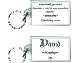 Custom First Name Meaning KeyChain