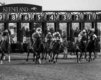 Keeneland Horse Racing Fine Art Print, Lexington, Bluegrass, Kentucky, Equestrian Photo Art Print Rustic Home Decor, Business Office Bar