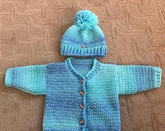 Crochet Boys sweater and beanie