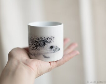 Hedgehog cup Custom coffee cup Espresso cup Personalized cup Small cup Personalized child name cup Custom hedgehog gift First birthday gift