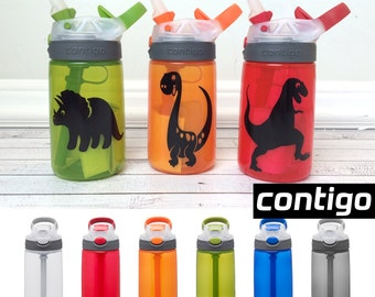 Contigo Water Bottle for Kids, Dinosaur, Personalized Water Bottle, Personalized Sippy Cup, Dinosaur Waterbottle, Dinosaur Birthday Party