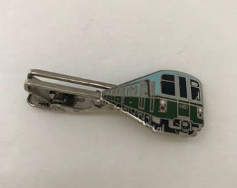 Vintage Train Enamel Tie Cilp