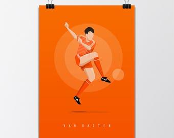 Marco Van Basten '88 - Digital Illustration Print Poster