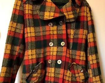 Vintage Wool tartan Jacket