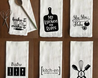 Funny & Personalized Flour Sack Towel - Kitchen - Buy 3 Get 1 FREE!!