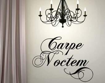 Carpe Noctem  Wall Quotes - Carpe Noctem Home Wall Decal Home Vinyl Lettering Decals -Seize the Night #653Q