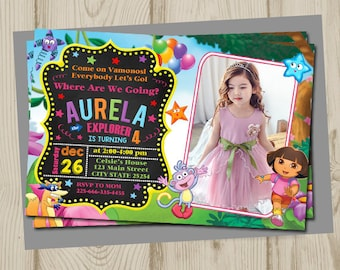 Dora the explorer invitation, dora the explorer birthday, dora the explorer birthday invitation, dora the explorer printable, dora party,