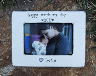 Happy Mother's day Mom gift mom mama mommy Personalized picture frame gift daughter mother bride wedding gift Mom birthday gift idea