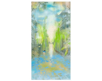"Print ""Hopscotch Garden"" 50x100 cm, reproduction, Fine Art Giclée"