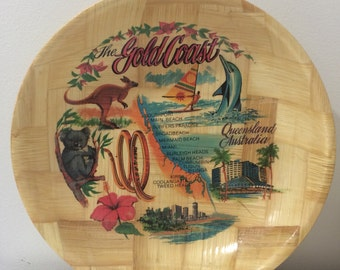 1980s Gold Coast Souvenier Fruit Bowl